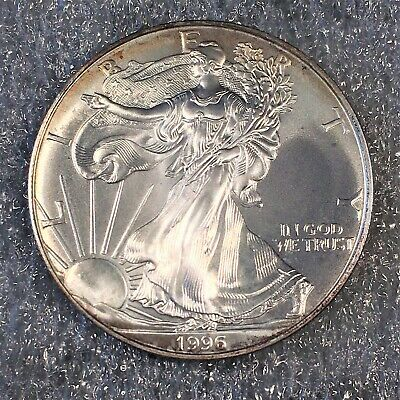 1996 Uncirculated American Silver Eagle US Mint Issue 1oz Pure Silver #H624