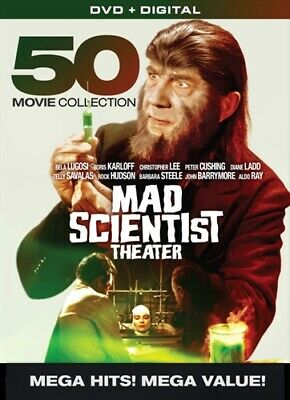 MAD SCIENTIST THEATER 50 MOVIE COLLECTION 10 DVD Set Boris Karloff Bela Lugosi