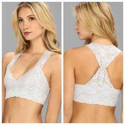 113b1f5845 NWT FREE PEOPLE Galloon Lace Racerback Bralette Bra In Lilac M L ...