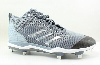 newest 7a84d 7660f Adidas Mens Poweralley 5 Mid Gray Baseball Cleats Size 12 (74055)