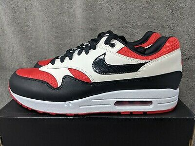 premium selection 6ad92 95ba3 NIKE AIR MAX 1 ID WHITE-RED-BLACK Men s SZ 11.5 (943756-