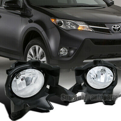 fit 2013-2015 Toyota RAV4 Clear Lens Front Fog Bumper Lights w/ Bulbs+Switch