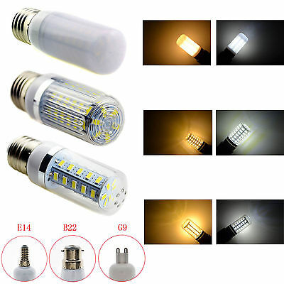 E27/E14/B22/G9 5/7/9/12/15W 5730 SMD LED Corn Light Lamp Bulb AC 220V