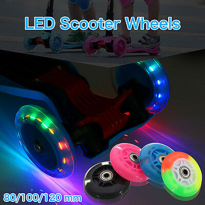 80-120mm LED Flash Light Up Wheel for Mini Maxi Micro Scooter 2 ABED-7