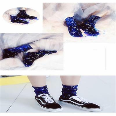 Fashion Women Casual Stars Socks Winter Warm Retro Elastic Ankle Socks B