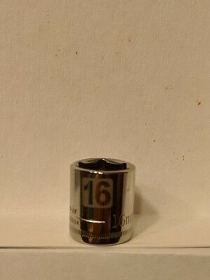 Craftsman 3/8 Drive 16 Metric Shallow Laser Etched Easy Read 6pt Socket