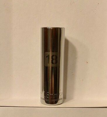 Craftsman 1/2 Drive 18 Metric Deep Laser Etched Easy Read 6pt Socket