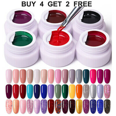LEMOOC 180 Color UV Gel Nail Art Tips Design UV LED Soak Off DIY Gel Nail Polish