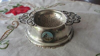 Vintage  SILVER PLATED TEA STRAINER & STAND  Darwin N.T