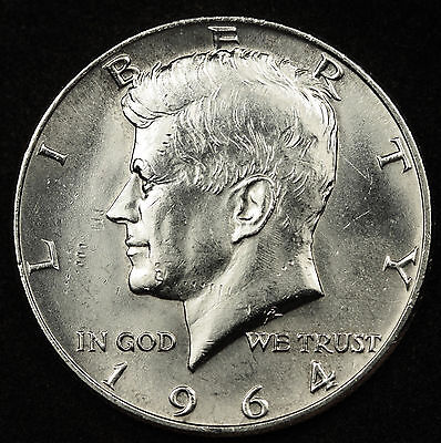 """1964-D/D Kennedy Half. Double """"D"""" mint marks. No Set complete w/o one. BU (Inv.F"""