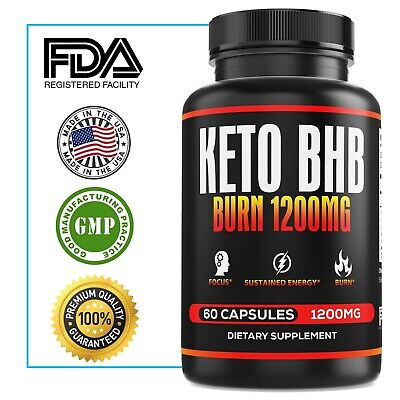 1200mg Keto Boost Diet Pills Advanced Weight Loss Fat Burner Women Men Bhb Burn