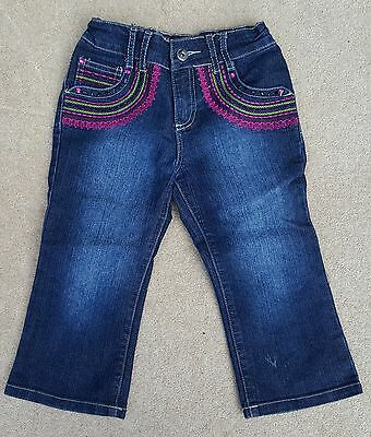 MATALAN Girls Blue Jeans Trousers Pants 62% Cotton 8-9 Years
