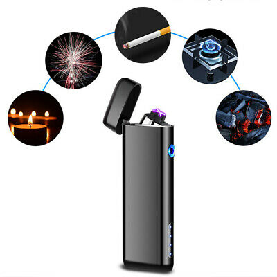 Metal Double Arc USB Electronic Ligter Plasma Pulse Pipe Tool  Lighter Windproof