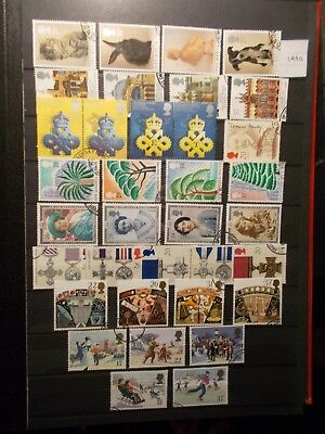 GB 1990 Commemorative Stamps, Year Set~Very Fine Used, ex fdc~UK Seller