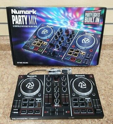 *Numark Party Mix DJ Controller w/ Built-In Light Show Mint Condition Used Once