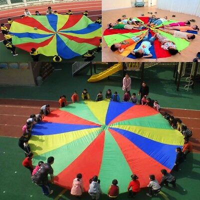 Kids Play Parachute 6m Large Children Rainbow Outdoor Game Exercise Sport Toy  !