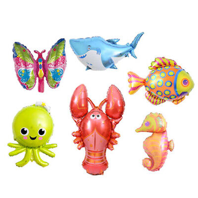 Kid Toy Large Cartoon Animal Foil Balloons Butterfly Fish for Birthday Party  Lp