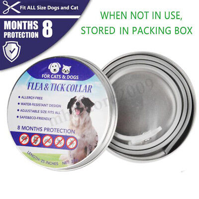 Flea and Tick Collar for Dogs Puppy Cats Adjustable 8 Months Protection !