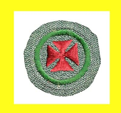 1937 ONLY TRANSITION Girl Scout BADGE MUSIC APPRECIATION GG Design on SG Fabric