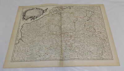 1783 Antique COLOR Map///PARTS OF BELGIUM, FRANCE, HOLLAND, LUXEMBOURG, GERMANY