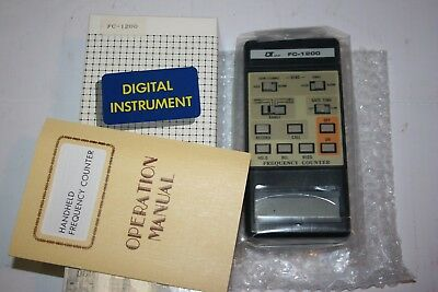 LUTRON FC-1200 1.25 GHz FREQUENCY COUNTER ,Carrying pouch, Instructions NOS