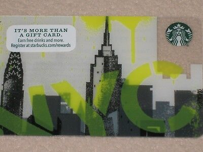 100 Starbucks New York City Gift Cards - No Value - Lot - Brand New !