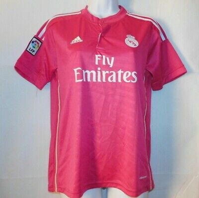 outlet store 94e58 92ebd ADIDAS REAL MADRID Ronaldo 7 Fly Emirates LFP Pink Jersey ...