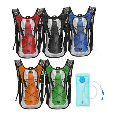 5L Hydration Backpack Rucksack Pack Cycling Hiking /2L Straw Water Bladder Bag ❤