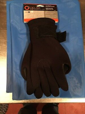 WATERPROOF M Medium Neoprene Gloves Black Celsius Fishing Fleece Lined Ice  Gear 3155b0b89947