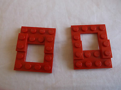 - Red x8 2x2 Hole Lego Plate with Wheel Arches 4x5x2//3 Car Base 4211