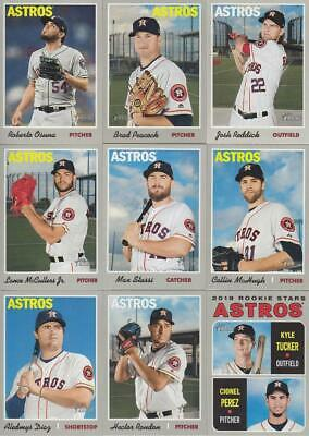 2019 TOPPS Heritage HOUSTON ASTROS team set (14 cards) KYLE TUCKER RC
