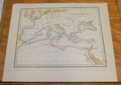 Early 1800s Antique Map /// MEDITERRANEAN SEA