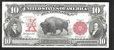 Proof Print by the BEP - Face of  1901 $10 U.S. Note