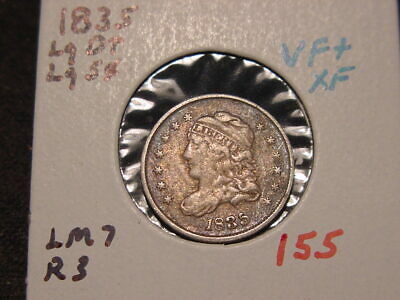 1835 Capped Bust Half Dime Lg Date Lg 5C Vf+ Xf Nice Original Coin! Lm 7 R 3