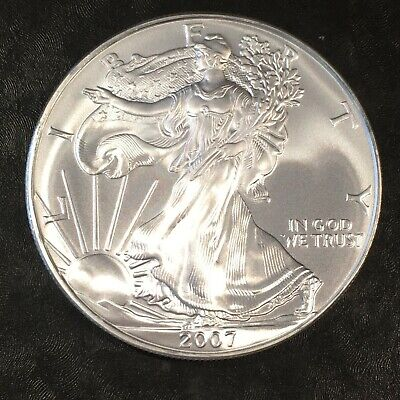 2007 Uncirculated American Silver Eagle US Mint Issue 1oz Pure Silver #H671