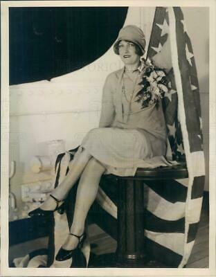1927 Press Photo NYC Betsy Ross Direct Descendant of Famous Colonial - ner37023
