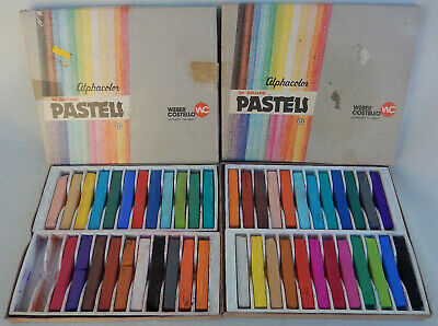 2 Box's Vtg. Alphacolor Weber Costello Pastels Sticks (46 sticks)