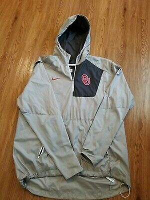 46e352495470 Oklahoma Sooners Nike Coaches Sideline Shield Hybrid Half-Zip Jacket Mens XL