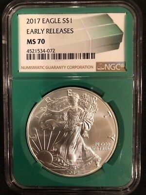 2017 Silver American Eagle MS-70 NGC Early Releases