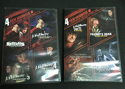 Nightmare On Elm Street [DVD] Collection 8 Films Lot, 2 Boxes, 1 2 3 4 5 6 Jason