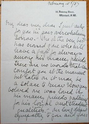 Countess LUCY BALDWIN of Bewdley 1937 Autograph Letter Signed ALS-10 Downing St.