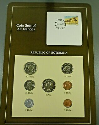 Coins Of All Nations BU Set - Botswana Free Shipping!