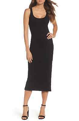 aa6b4e27f9a French Connection NEW Black Women's Small S Tommy Ribbed Tank Dress $98 #423