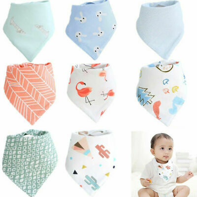 Infant Baby Boy&Girl Bibs Feeding Saliva Towel Dribble Triangle Bandana Bibs JT