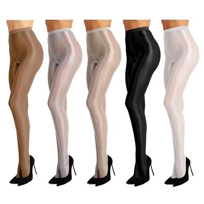 Womens Compression Shiny Pantyhose Tights High Hold Up Hosiery Socks Stockings