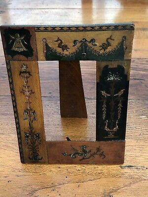 arts and craft ornate  inlaid photo frame !