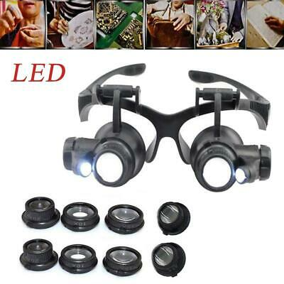 10X 15X 20X 25X  Magnifying LED Light Glass For Antique Watch Jewellery Repair