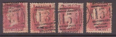 GB QUEEN VICTORIA Sg 43/44 Penny Red Plate 113 F-J Fine Used