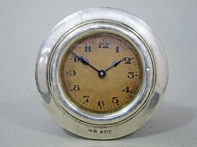 Vintage Art Deco Sterling Silver Mantle Clock 1928