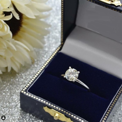 1.20 CT Round Cut Diamond Wedding Engagement Ring 14K White Gold Over